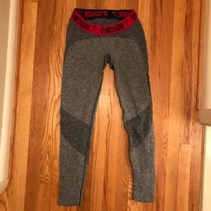 Gymshark Hot Pink & Grey Leggings Medium